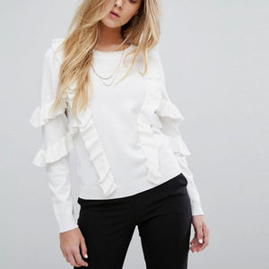 Suncoo Sweater with Frill, XS